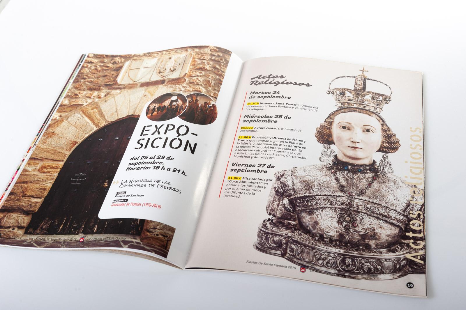 Programa de Fiestas de Santa Pantaria 2020 - Diseño Álvaro Díez - Imagina Arte Gráfico