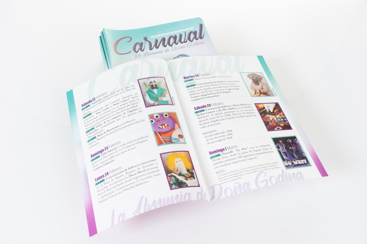 Programa Carnaval La Almunia 2020 - Diseño Imagina Arte Gráfico