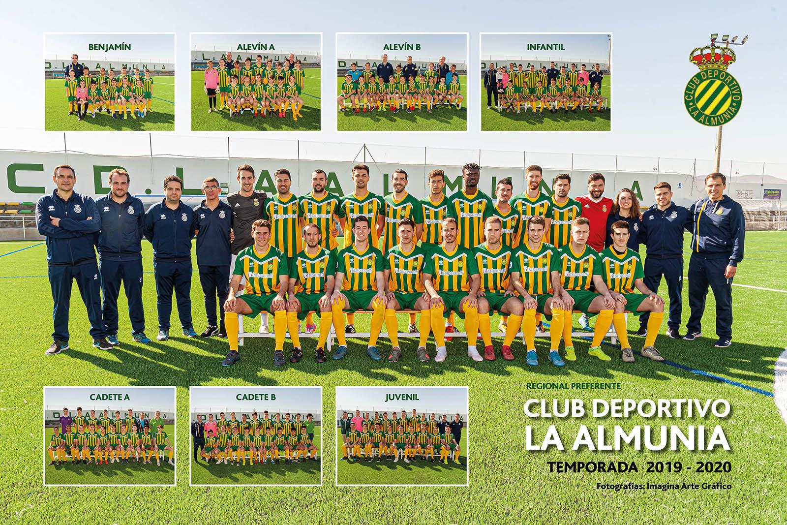 Fotografía CD La Almunia. Temporada 2019-2020.
