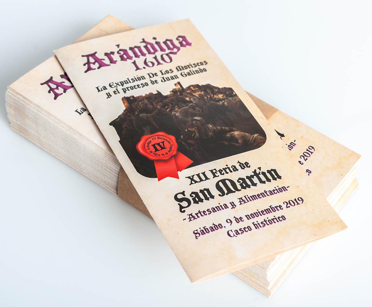 Publicidad Feria de San Martín de Arándiga.