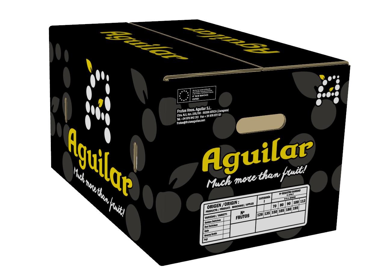 Envase manzana Aguilar - Diseño Imagina Arte Gráfico