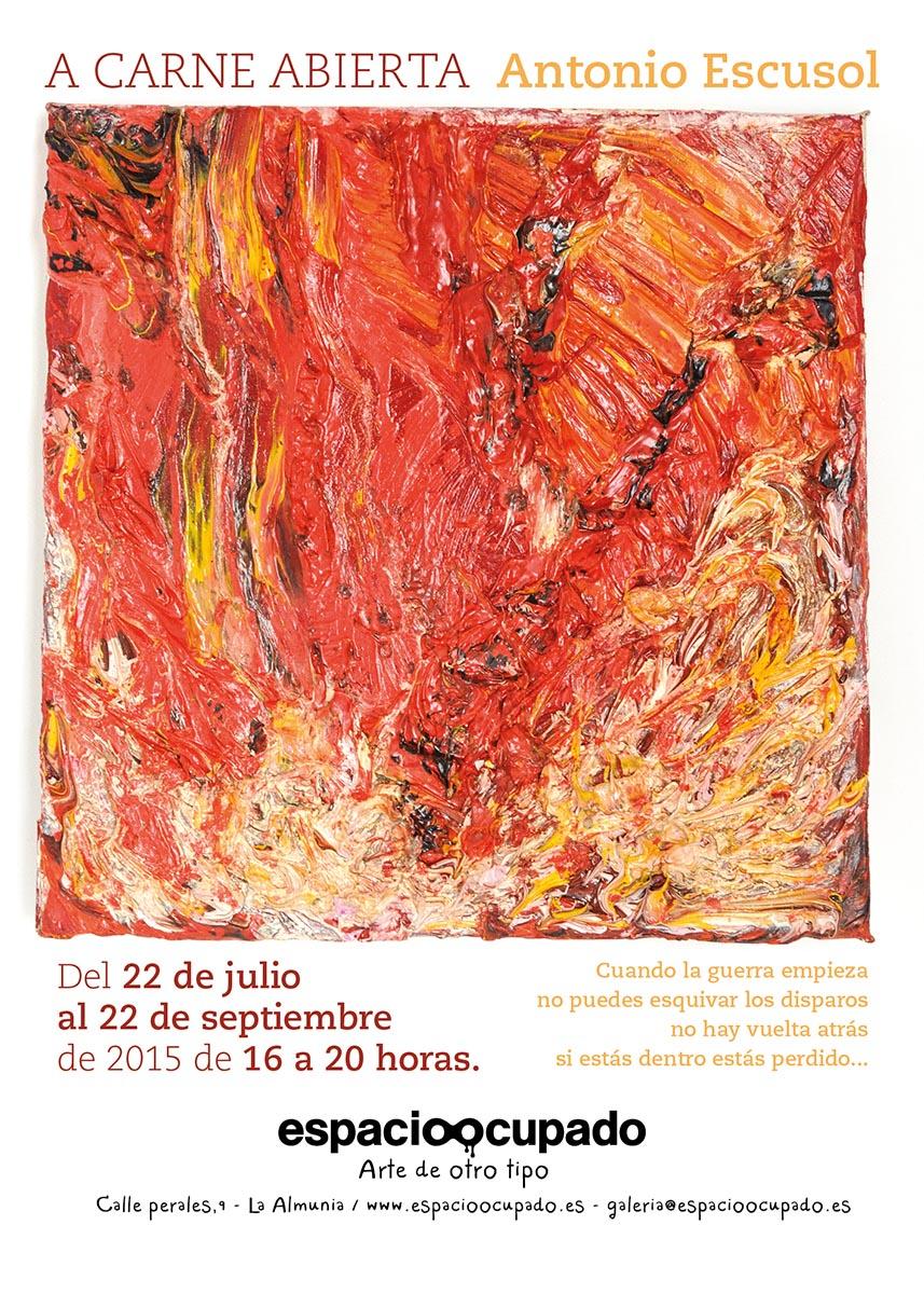 A carne abierta - Exposición de pintura por Antonio Escusol en Imagina Arte Gráfico