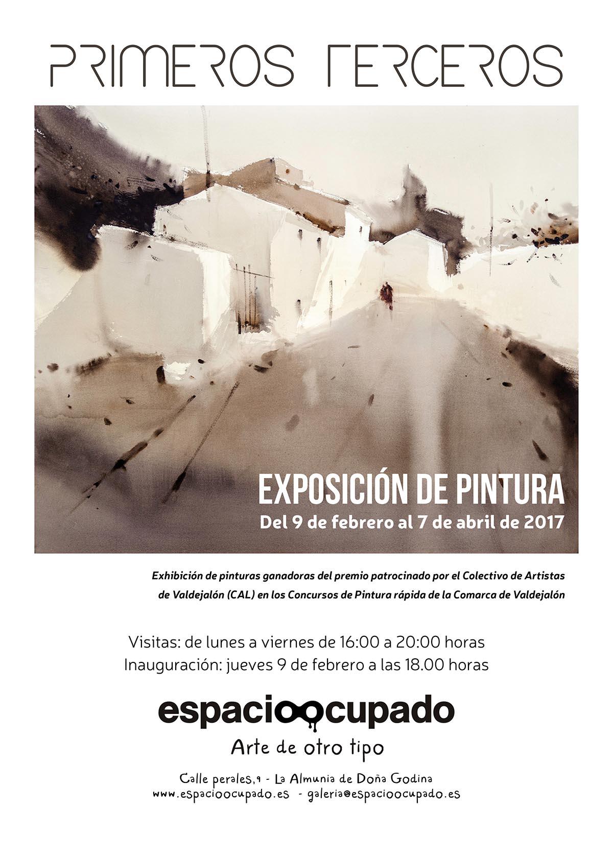 Primeros terceros - Cartel Exposición de pintura - Imagina Arte Gráfico