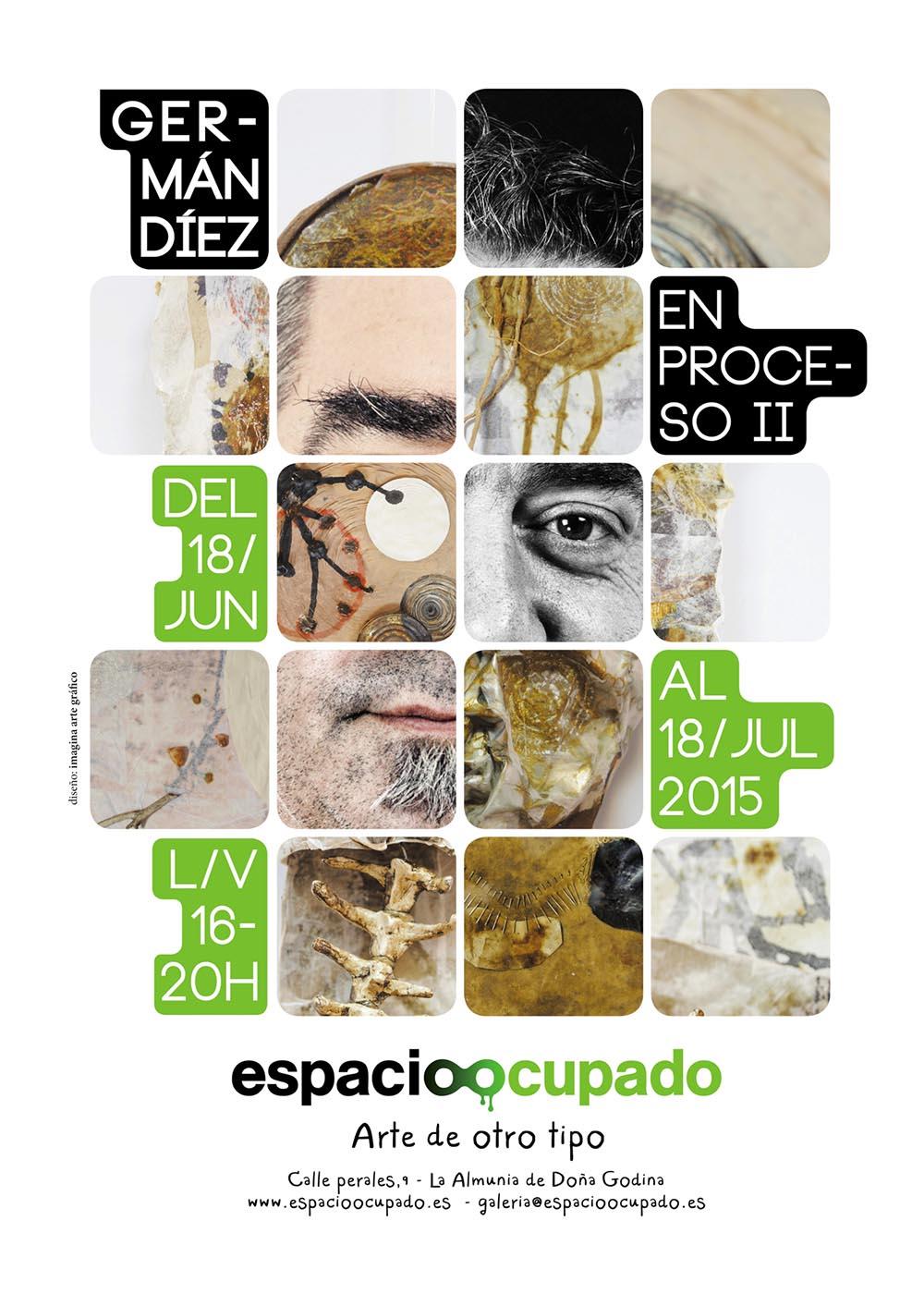 En proceso II - Exposición de Germán Díez en Imagina Arte Gráfico