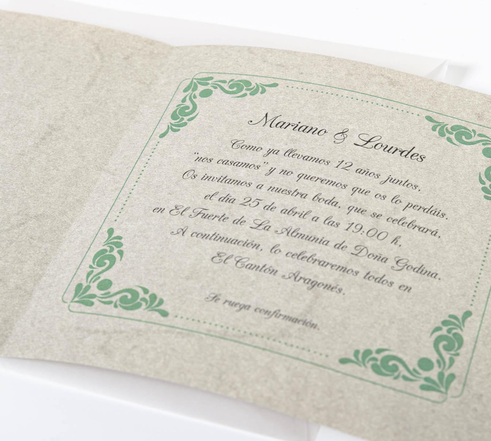 Invitaciones de boda - Imagina Arte Gráfico