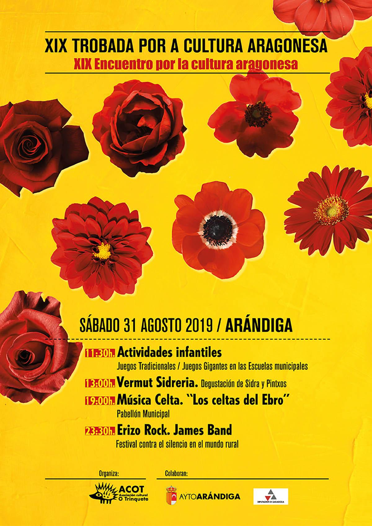 Cartel Trobada Cultura Aragonesa Arándiga
