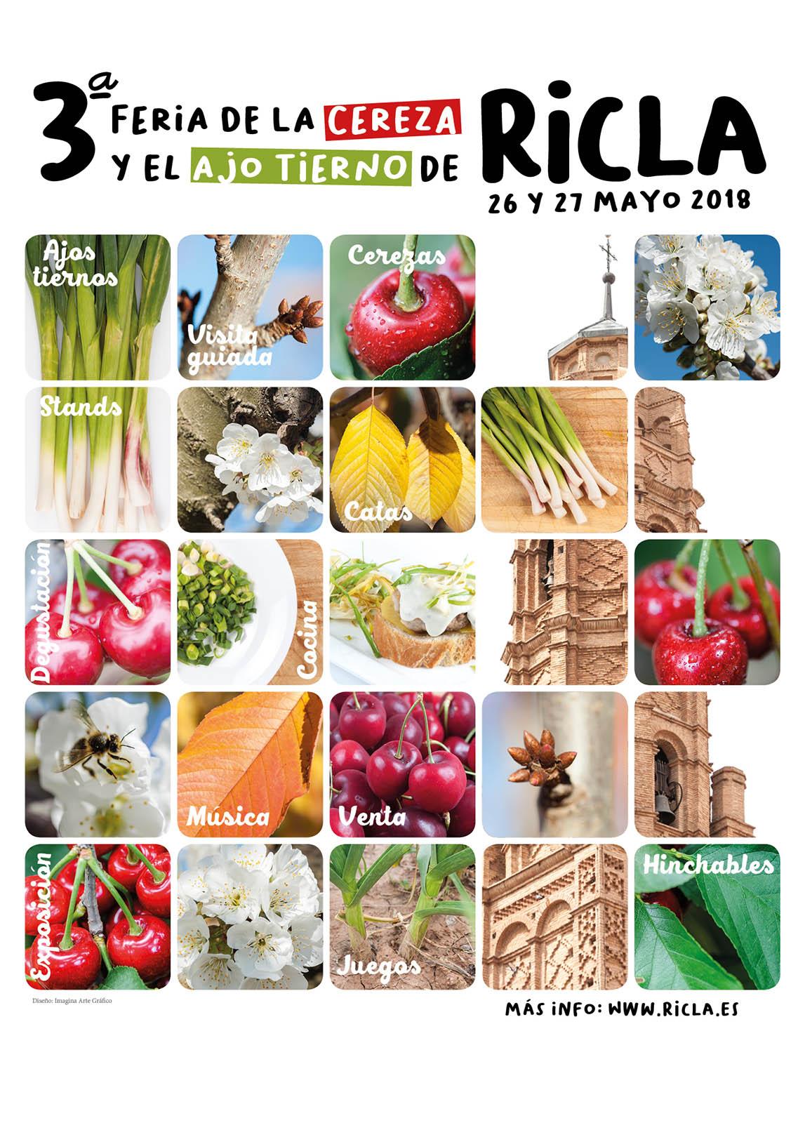 Publicidad III Feria de la Cereza y el Ajo tierno de Ricla