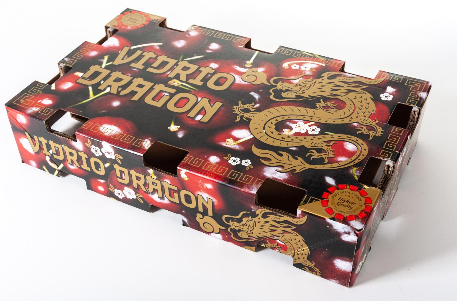 Diseño de envase Cereza Vidrio Dragon Exportación