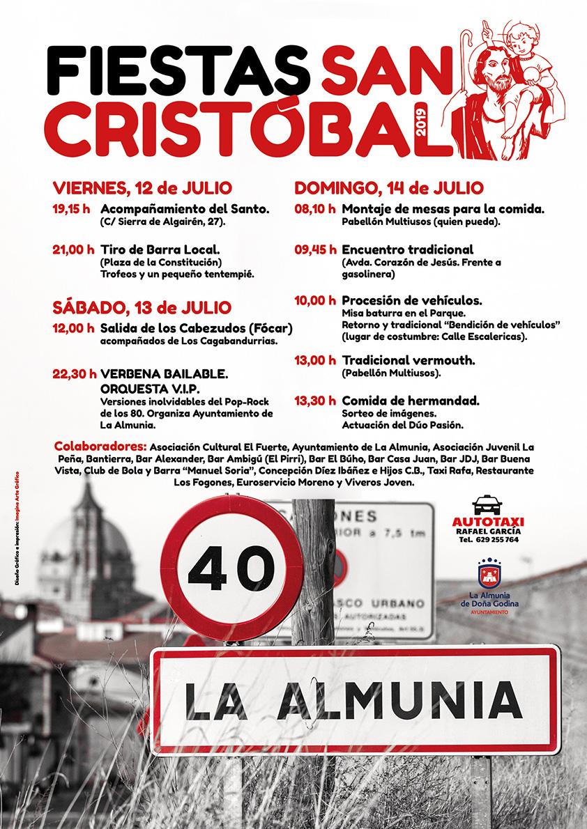 Cartel Fiestas San Cristóbal 2019