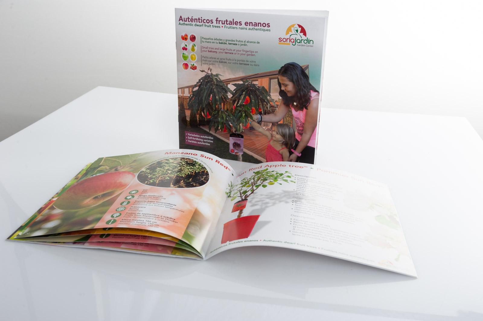 Catálogo de Frutales enanos - Mariano Soria Viveros - Imagina Arte Gráfico