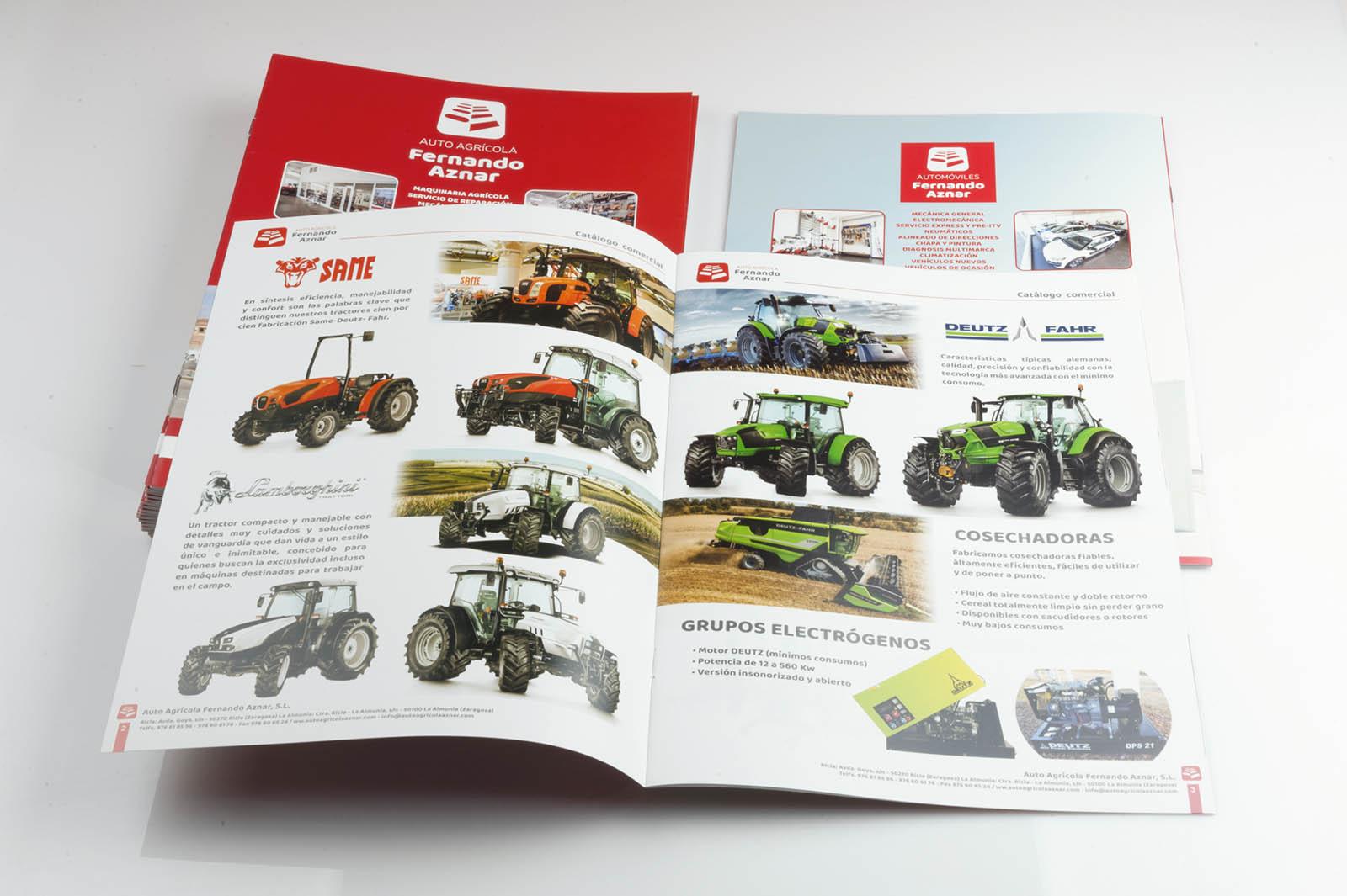 Catálogo comercial Autoagrícola Fernando Aznar - Diseño e impresión Imagina Arte Gráfico