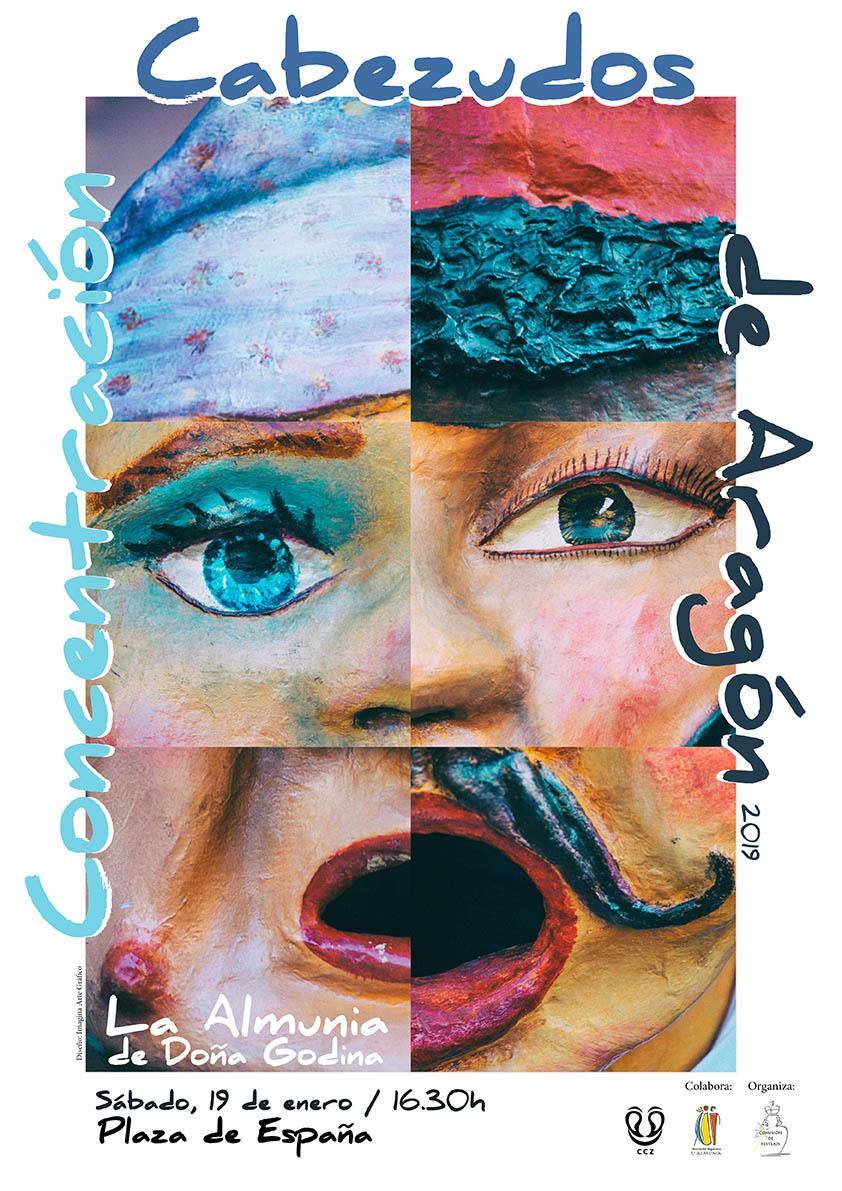 Cartel Concentración de Cabezudos de Aragón