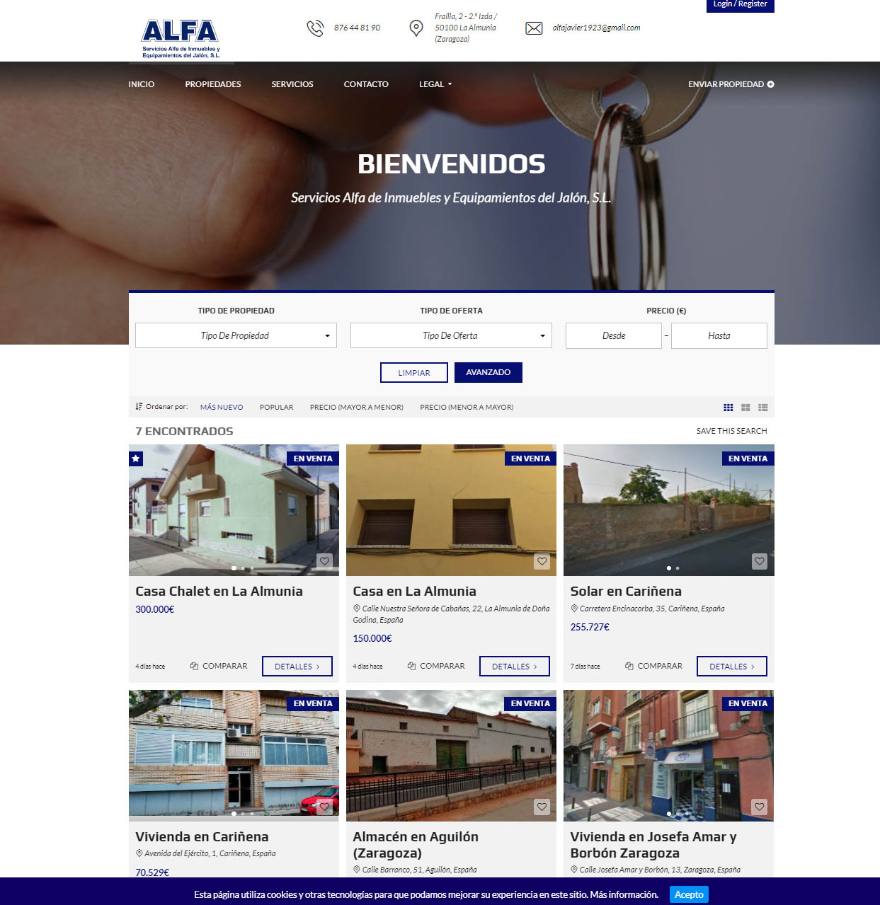 Web Inmuebles Alfa