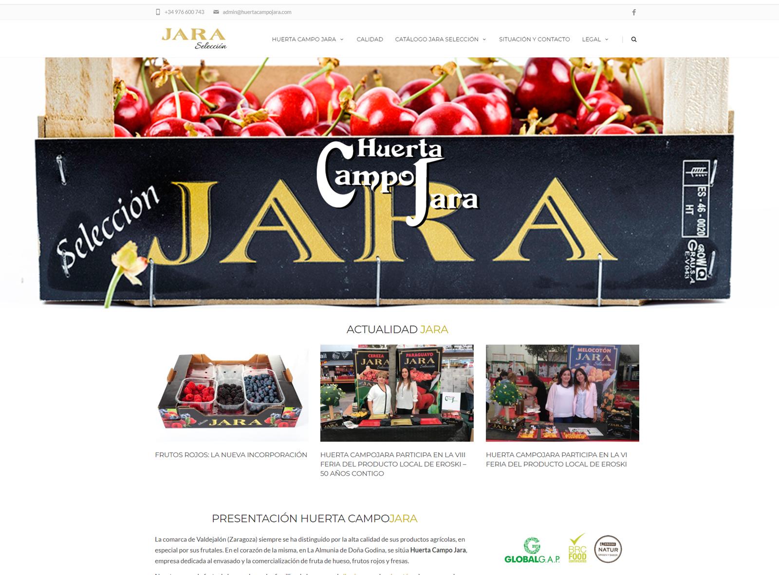 Web Huerta Campo Jara
