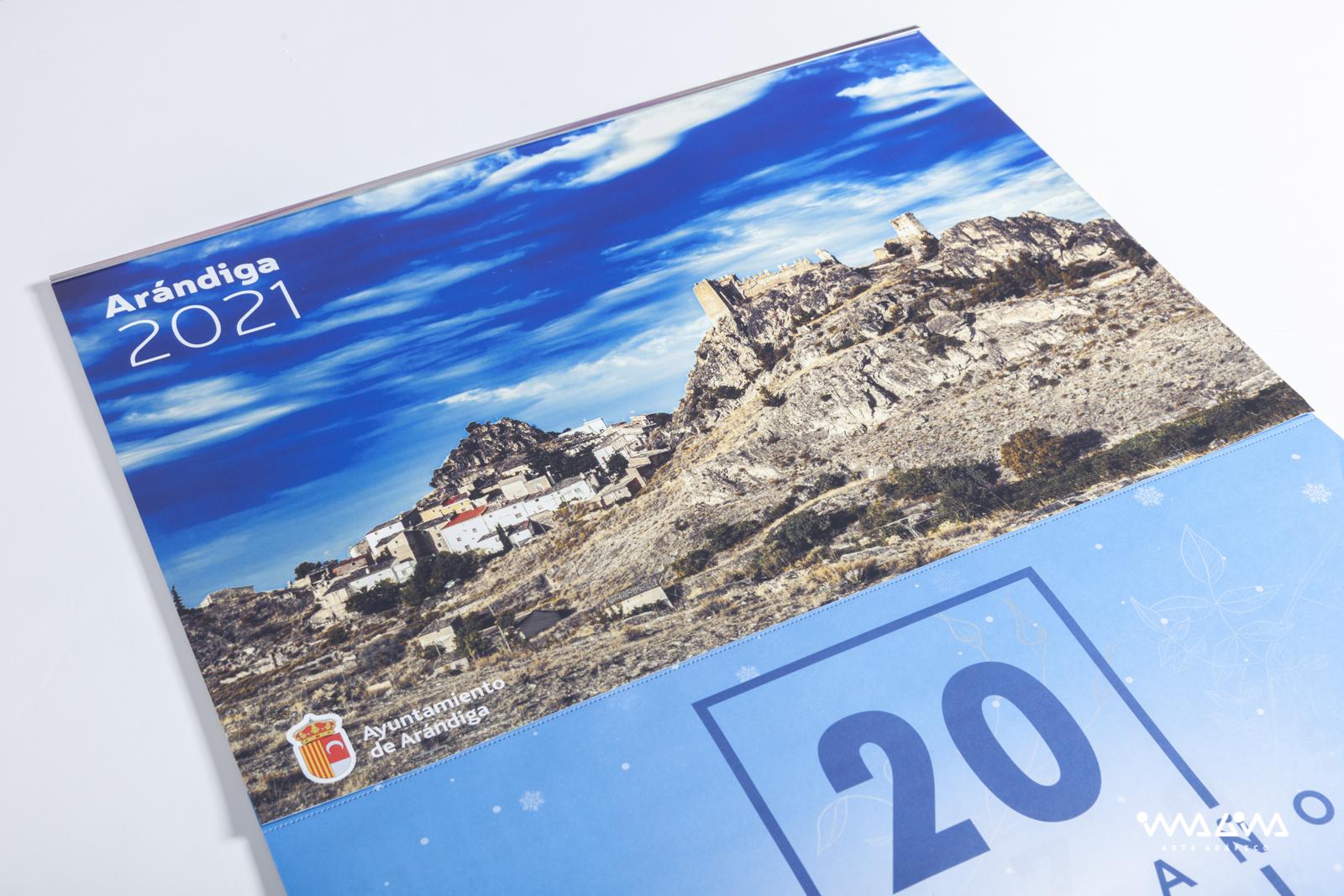 Calendarios de pared - Ayuntamiento de Arándiga - Imagina Arte Gráfico