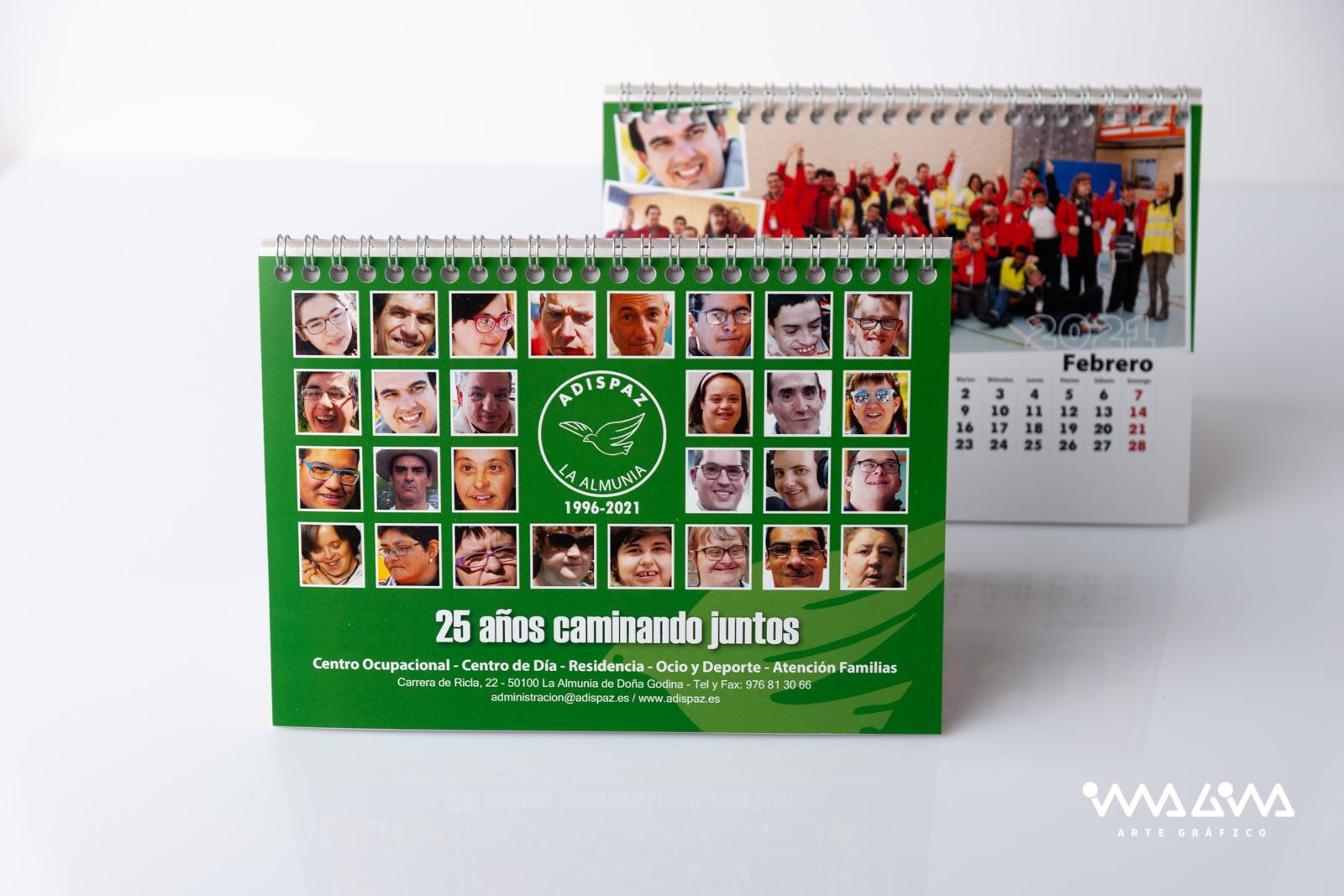 Calendario 25 Aniversario Adispaz 2021