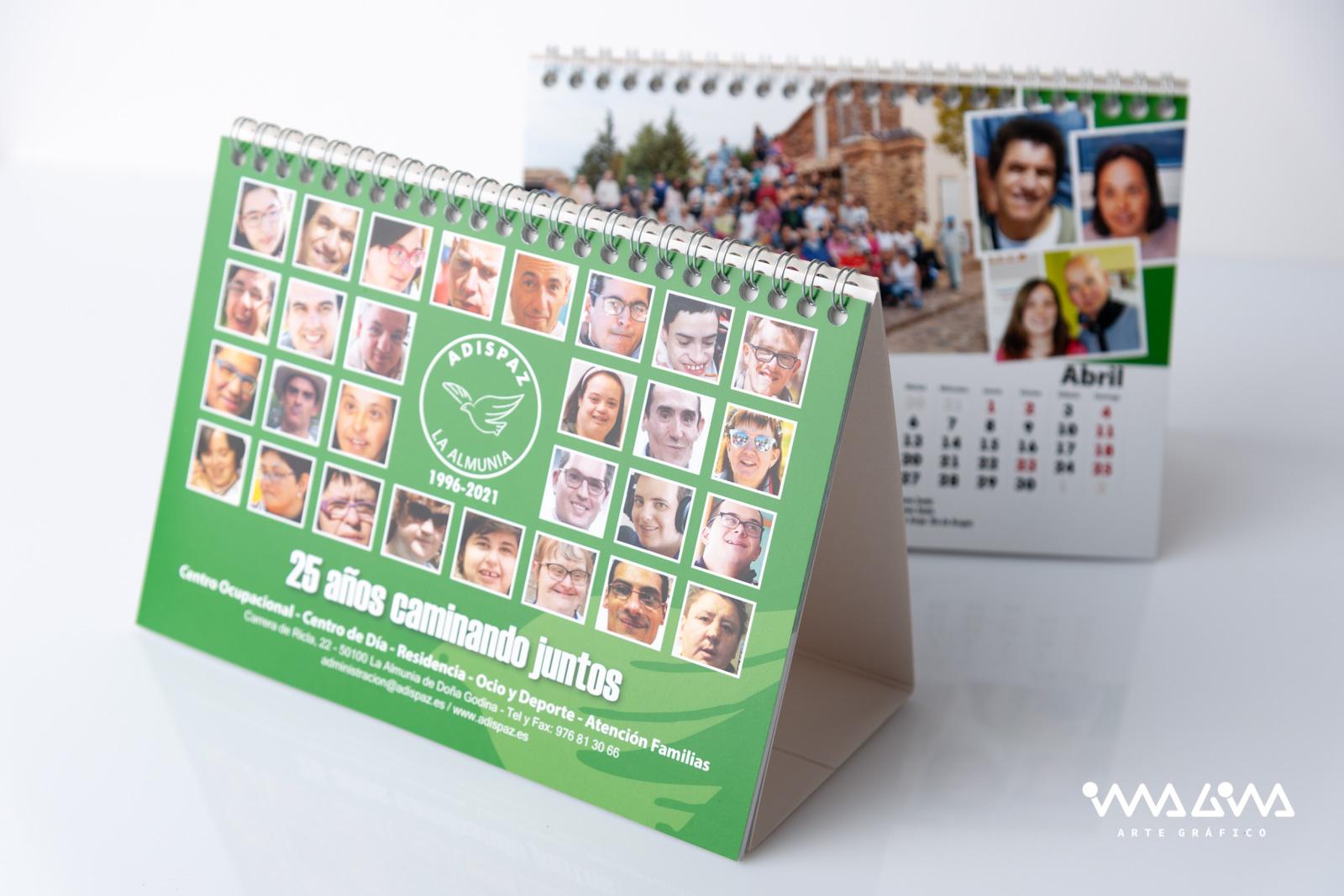 Calendarios 25 aniversario Adispaz