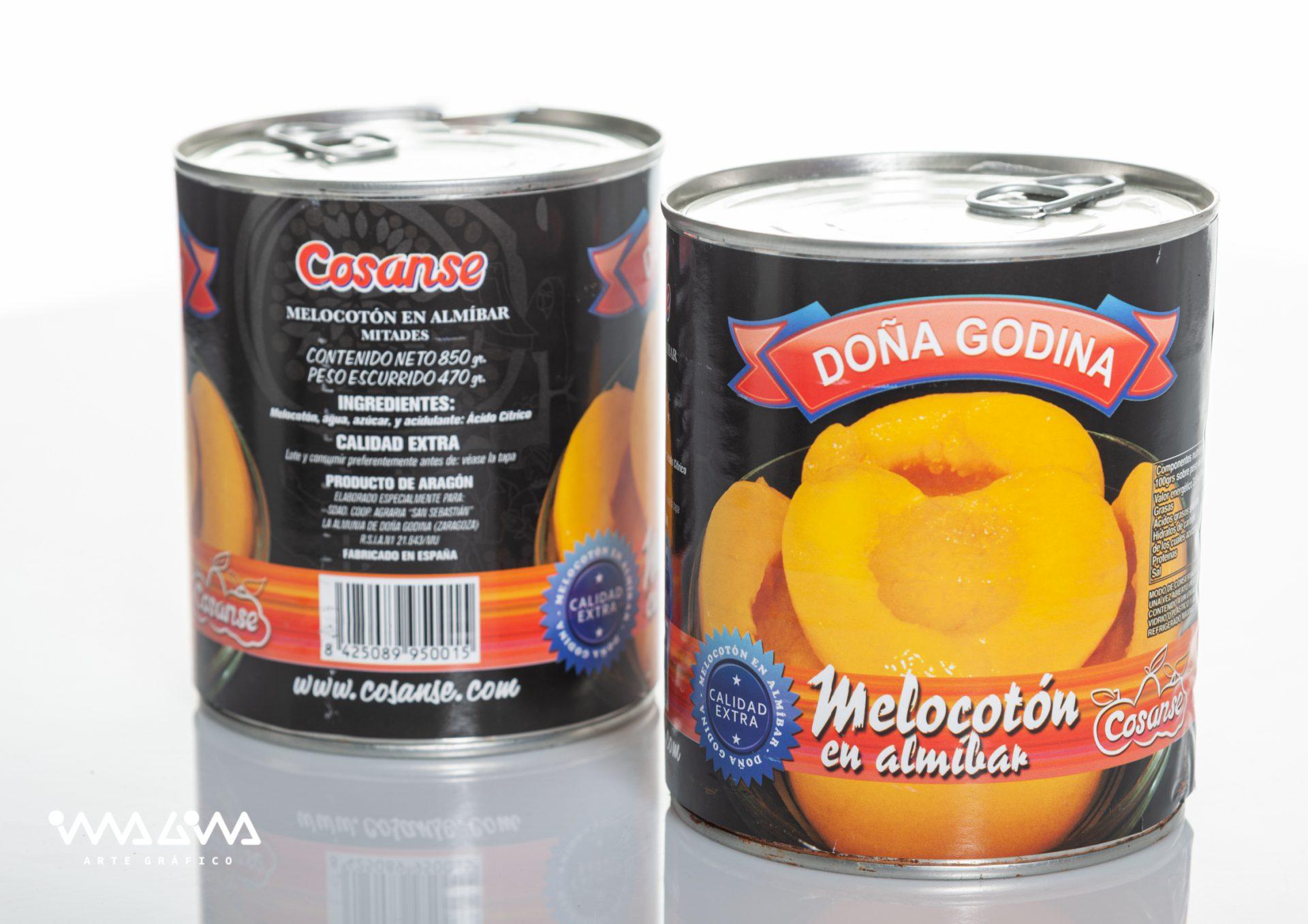 Envase melocotón en almíbar Doña Godina
