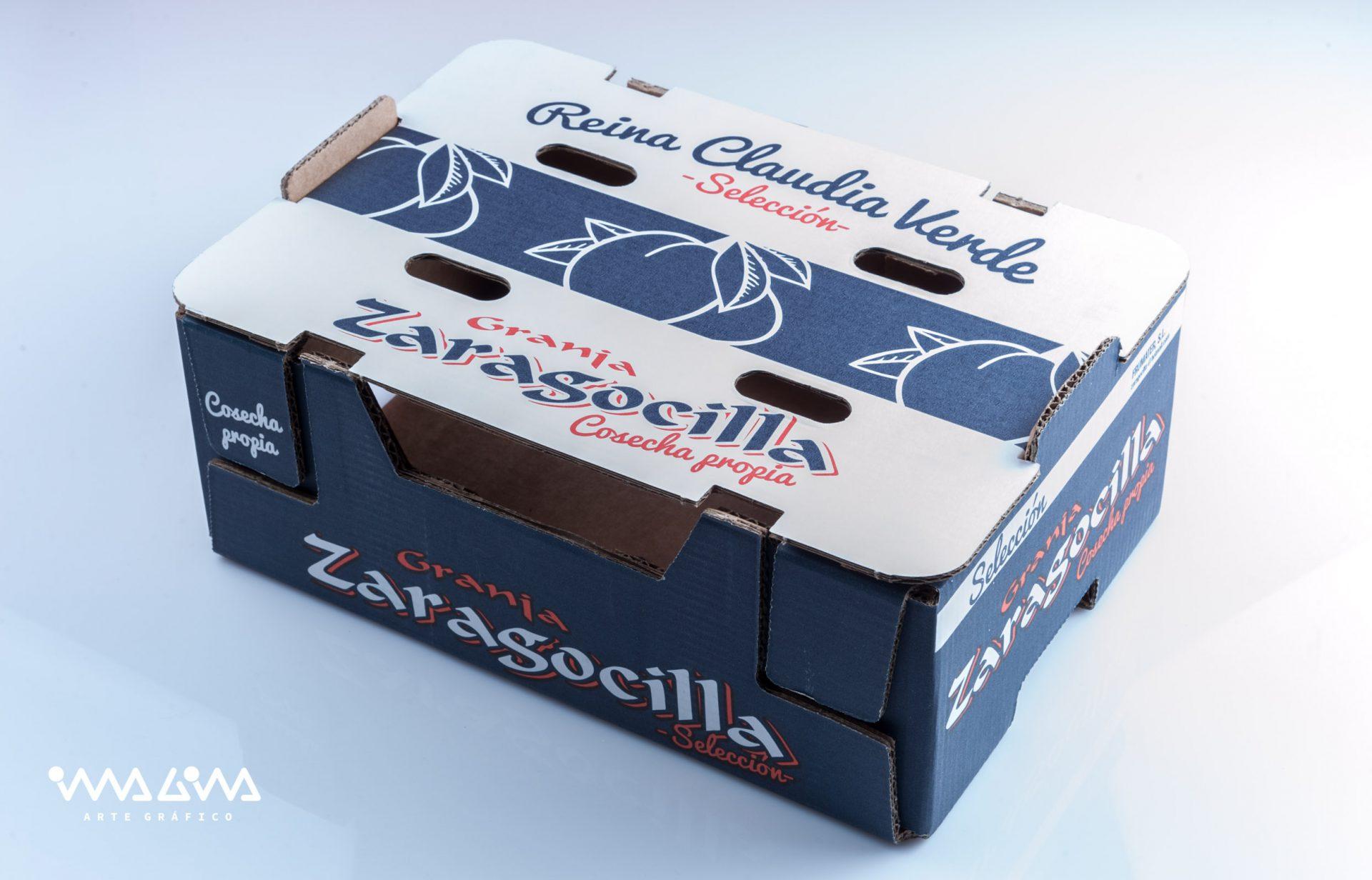 Diseño envase Ciruelas La zaragocilla -Imagina Arte Gráfico