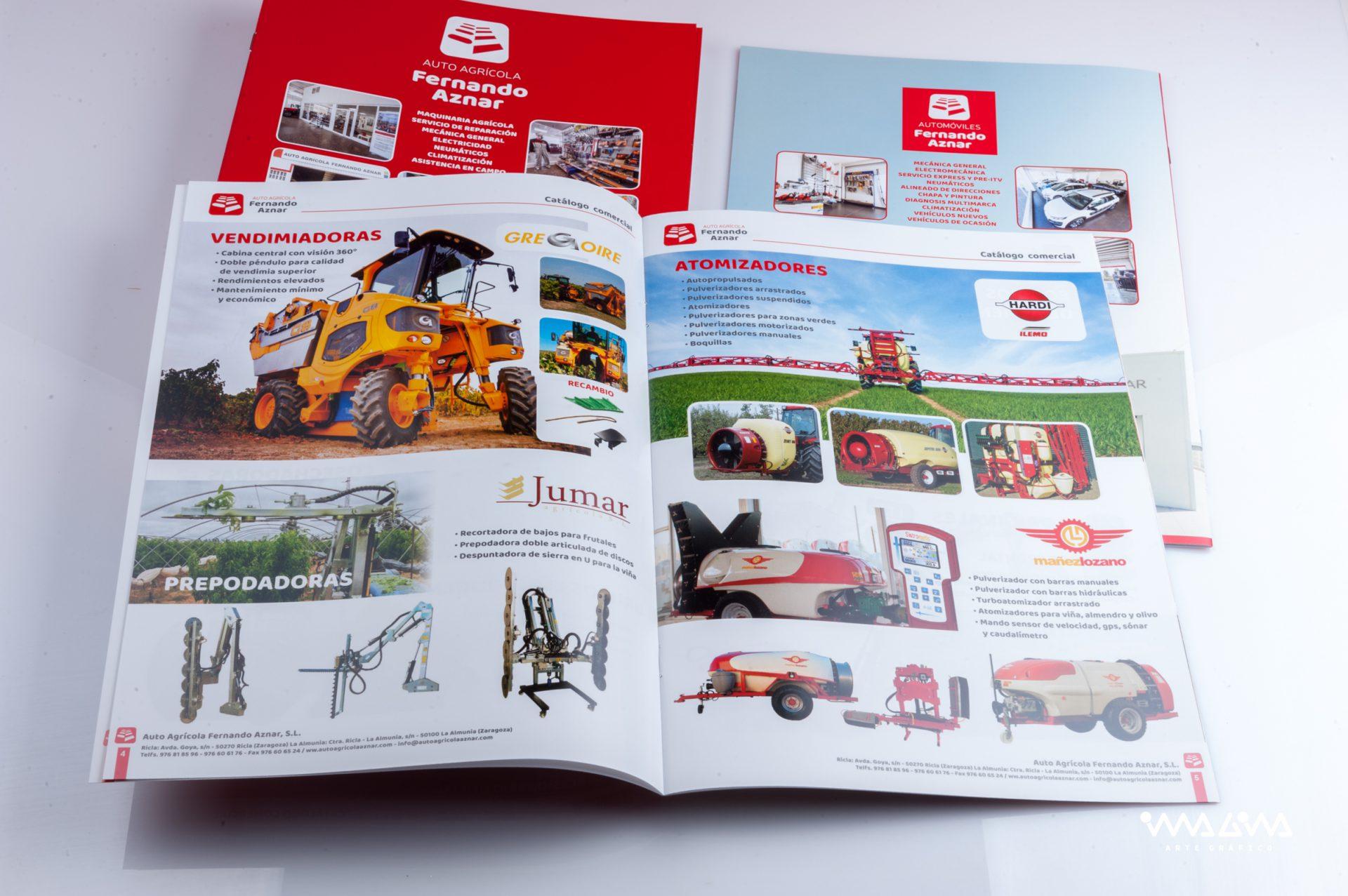 Catálogos publicitarios - Auto agrícola Fernando Aznar - Diseño e impresión Imagina Arte Gráfico
