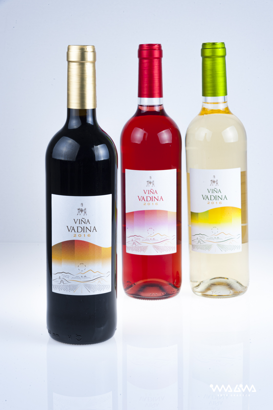Diseño etiquetas de vino Viña Vadina Imagina Arte Gráfico