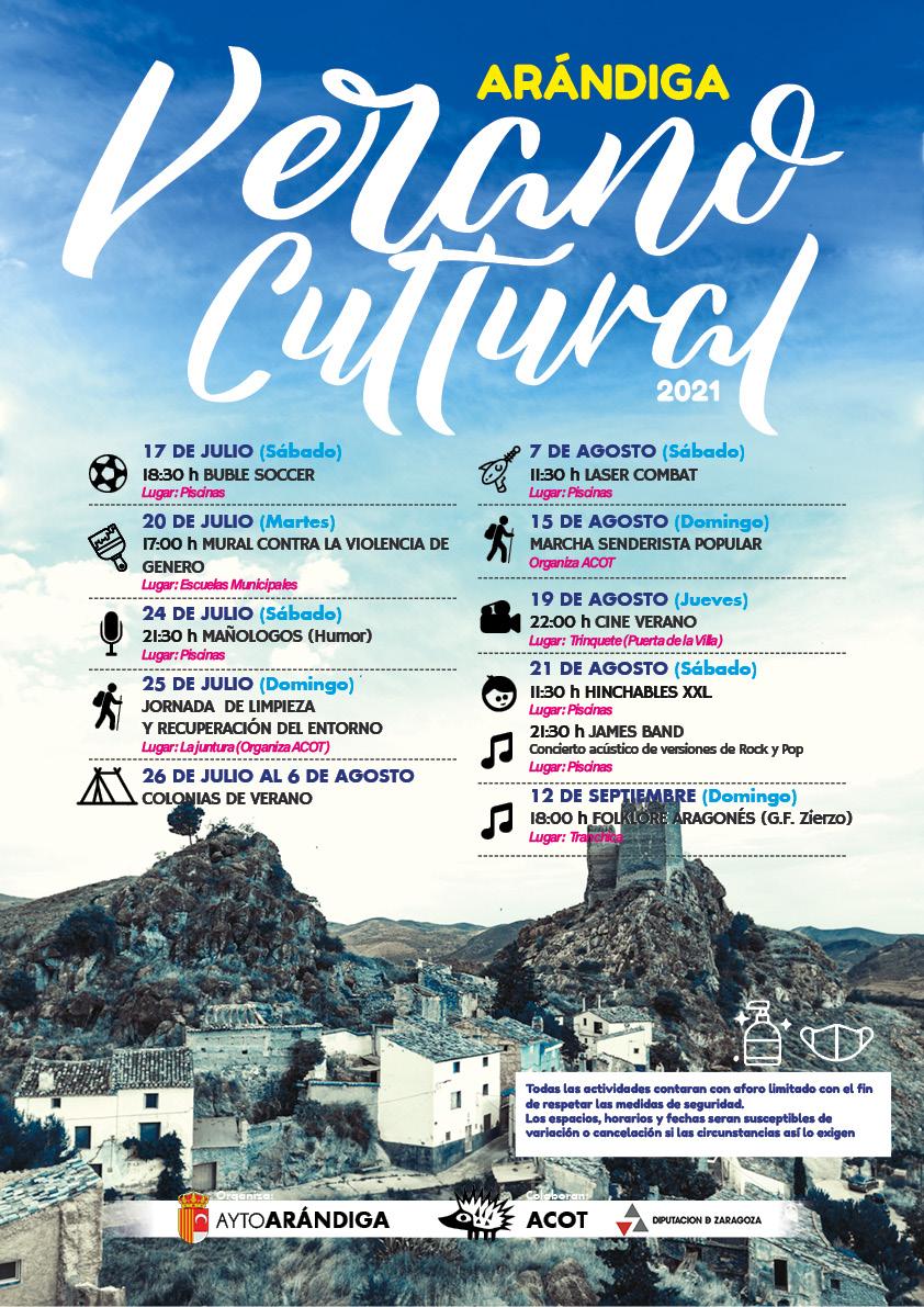Publicidad Verano Cultural Arándiga 2021