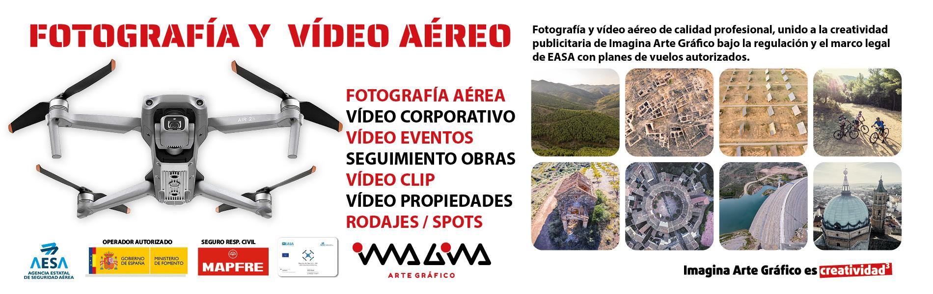 Nuevo servicio - Fotografía y Vídeo Aéreo - Imagina Arte Gráfico
